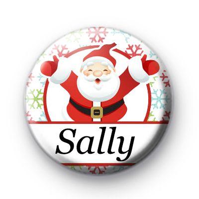custom santa snowflake white name badge in 2018 christmas badges