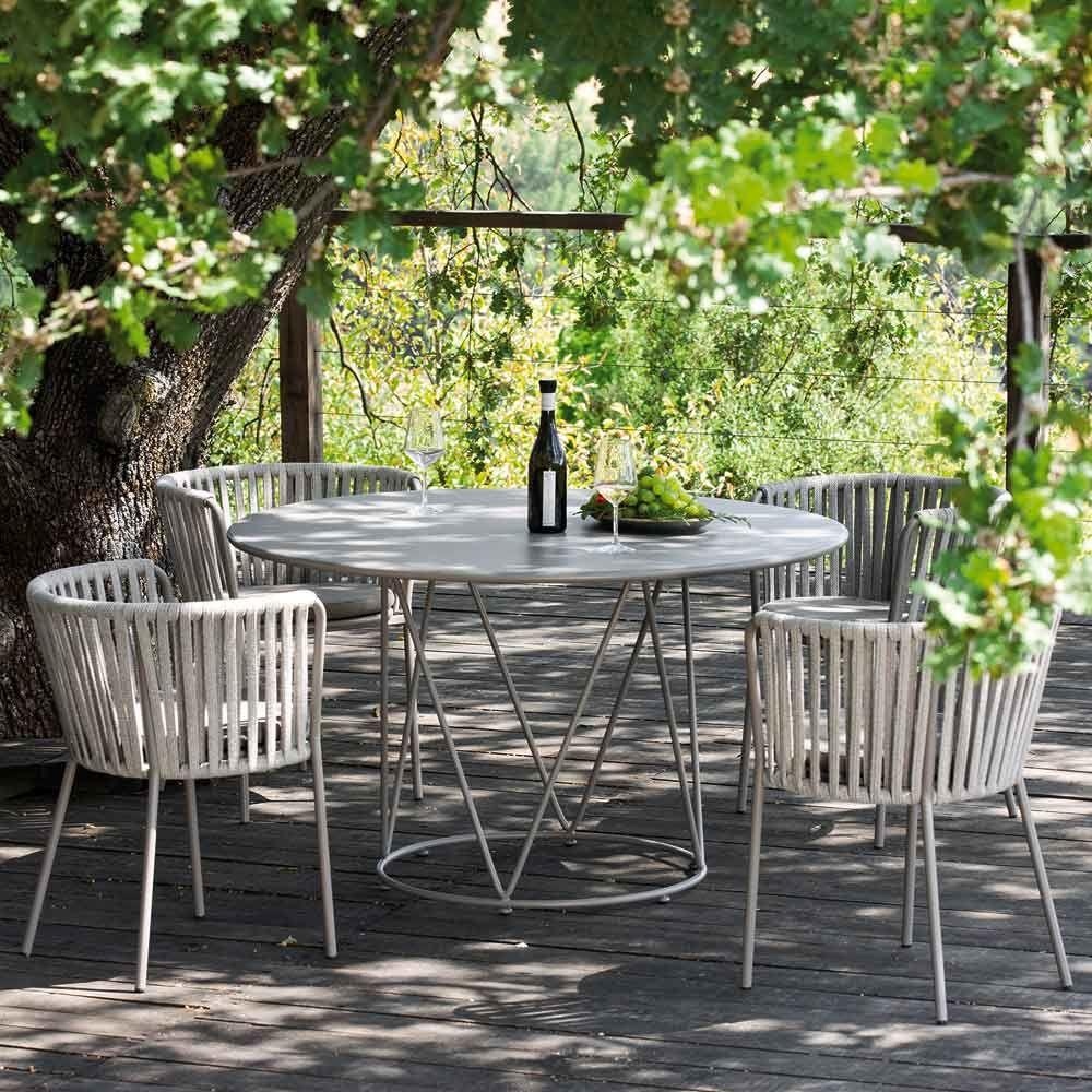 Gartenstuhl In Taupe Online Bei Www Milanari Com Gartentisch Gartenmobel Design Terrassen Tische