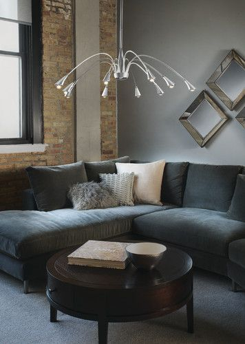 LED Spider Chrome Chandelier Contemporary Living Room Philips Lighting