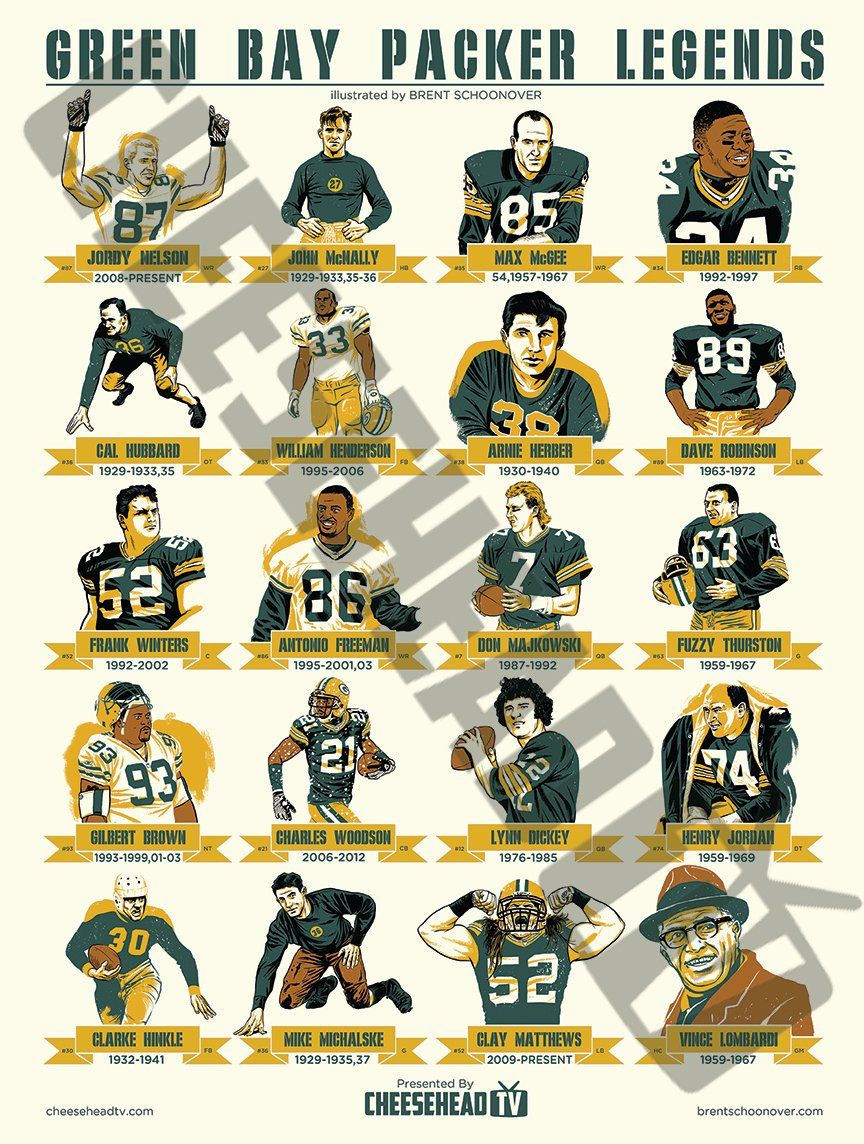 Packers Legends Poster Volume Two  d0801b527fe9