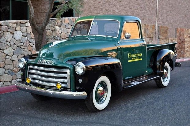 1950 Gmc Pickup Different Take On Two Toned Classic Cars Trucks Chevy Pickup Trucks Old Pickup Trucks