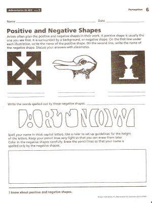 Harvest Artists Blog 6th Grade Negative Space Homework Art Lessons Middle School Art Worksheets Art Handouts 6th grade art worksheets