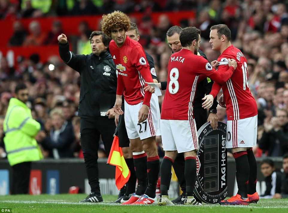 Juan Mata and Jesse Lingard were replaced by Rooney and