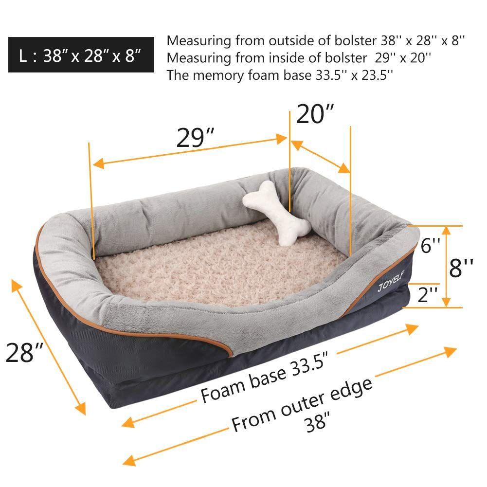 Joyelf Large Memory Foam Dog Bed Orthopedic Dog Bed And Sofa With Removable Washable Cover And Sq Krovati Dlya Zhivotnyh Koshachi Krovati Domashnie Zhivotnye Domiki
