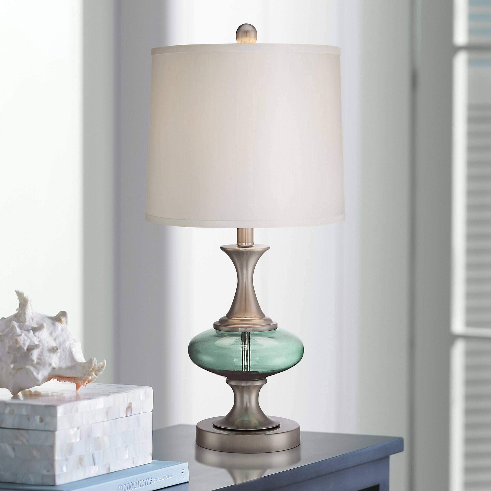 Pin By Lindsey Royal On Living Room Glass Table Lamp Contemporary Table Lamps Table Lamps Living Room