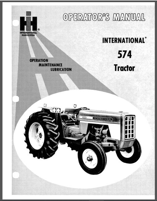 Case Ih Tractor International 574 Operator S Manual In 2020 Case Ih Tractors Tractors Hydraulic Systems