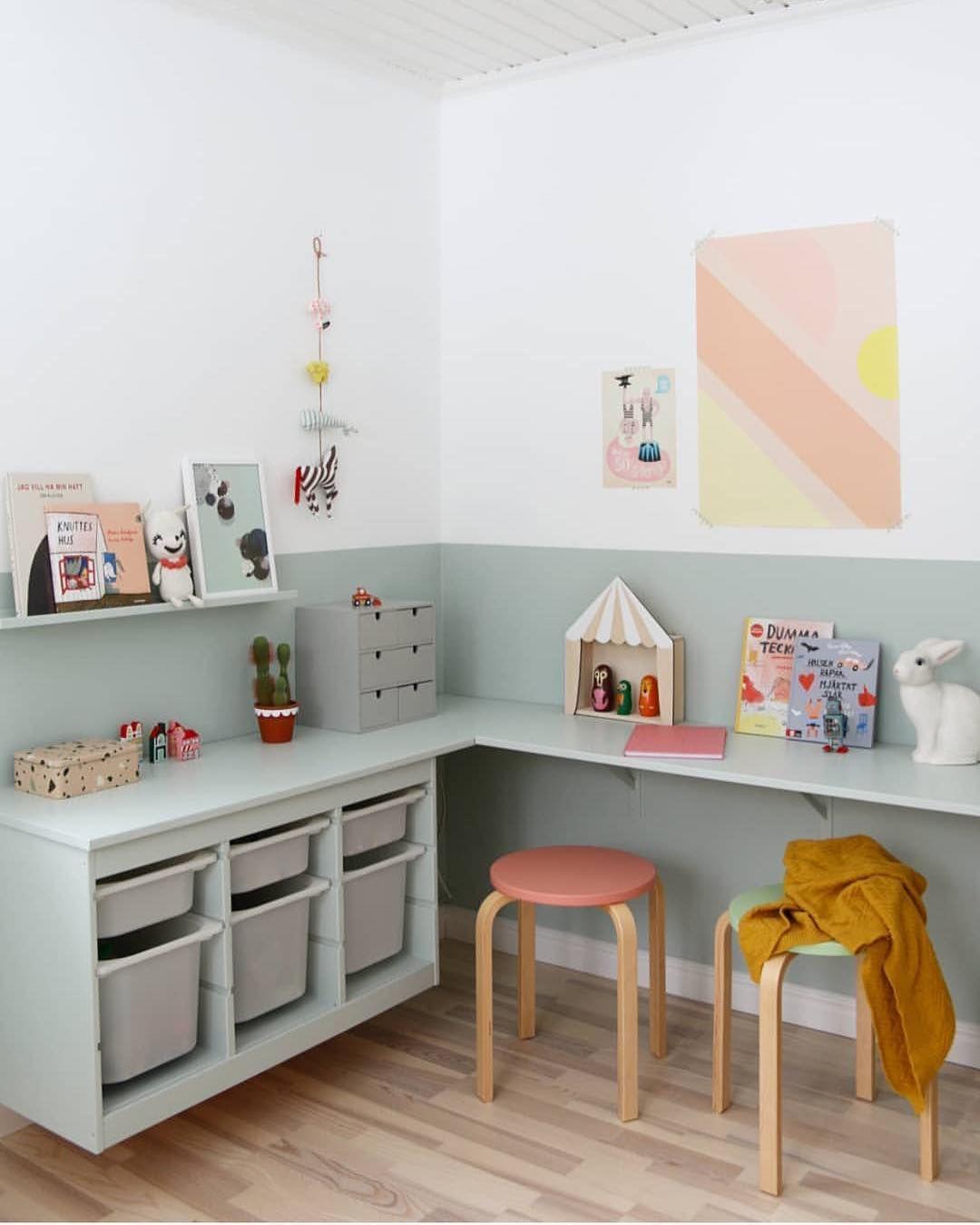 Cute Diy Trofast Desk Nook For Kids Kid S Room Home Kids Bedroom Child S Room Et Ikea Kids