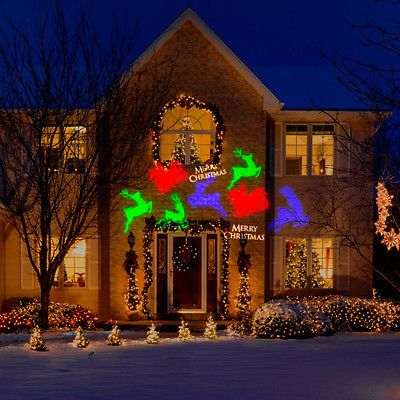 Gemmy Lightshow Christmas Lights Projection Whirl Amotionmerry