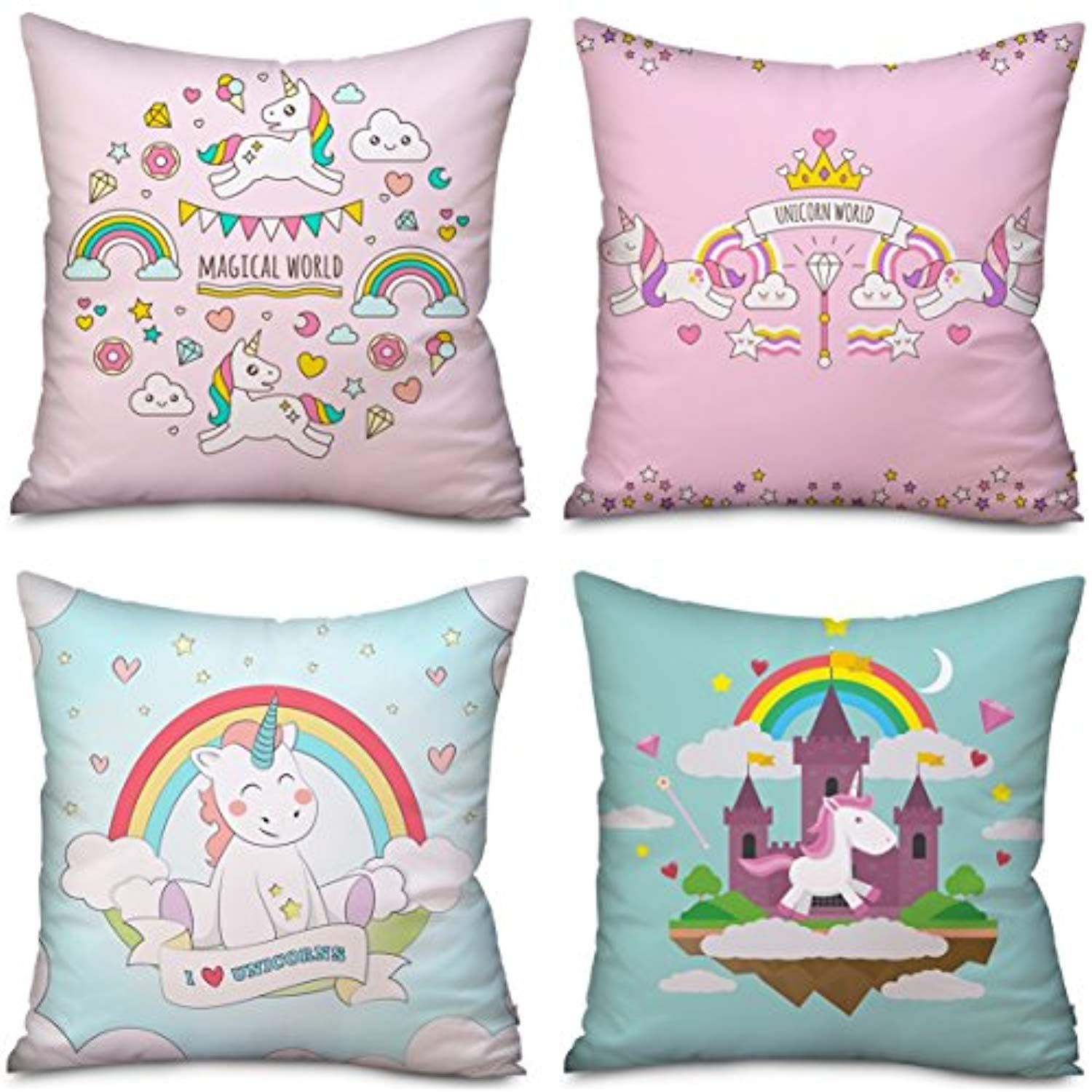 pack unicorn pillow case cushion covers home decor unicorn gifts