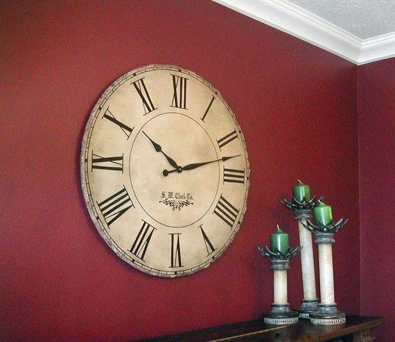 les 25 meilleures id es de la cat gorie grande horloge sur pinterest horloge murale g ante. Black Bedroom Furniture Sets. Home Design Ideas