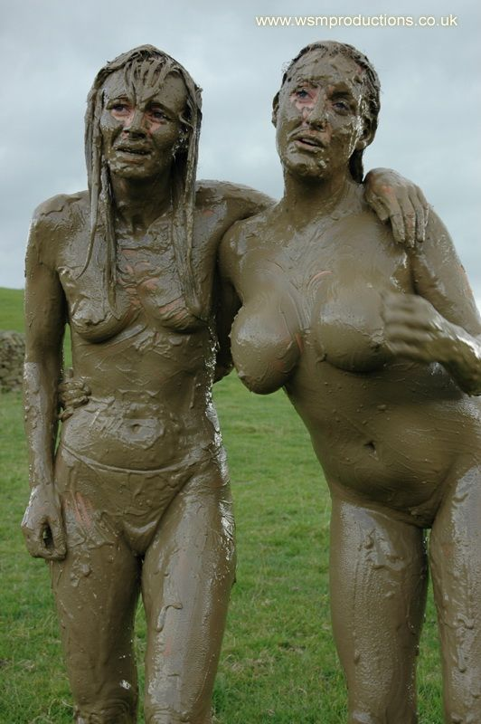 Mud wrestling naked girls