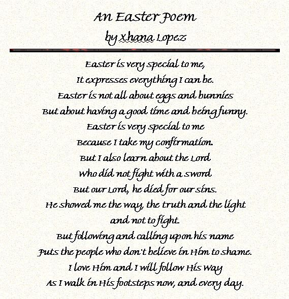 Easter Poems For Church 7