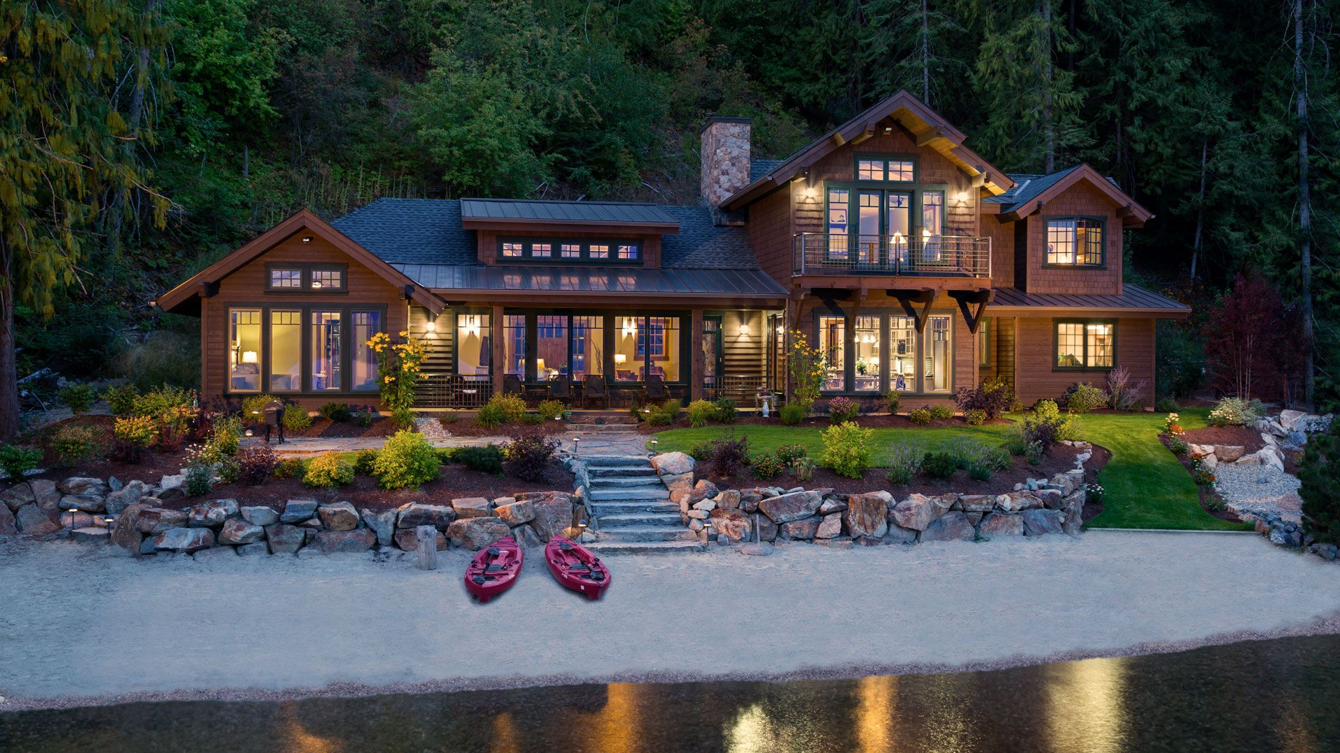 Home on Lake Pend Oreille. Design by Hendricks Architecture. Barry ...
