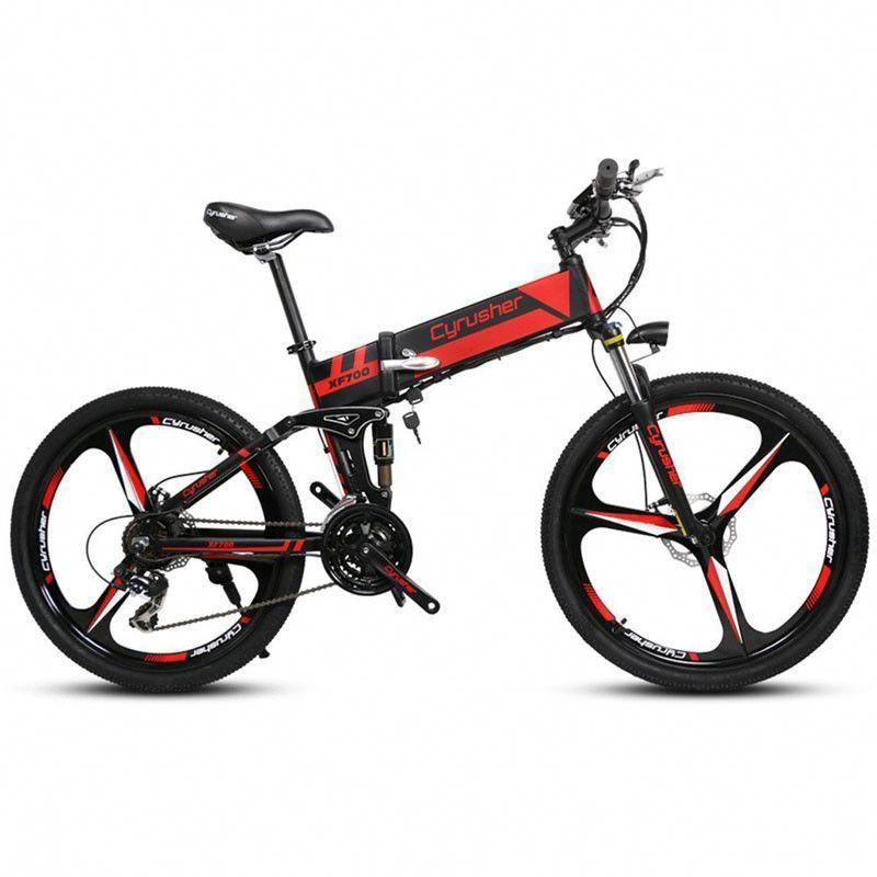 Xf700 Folding Electric Bike 250w 36v Mountain Full Suspension