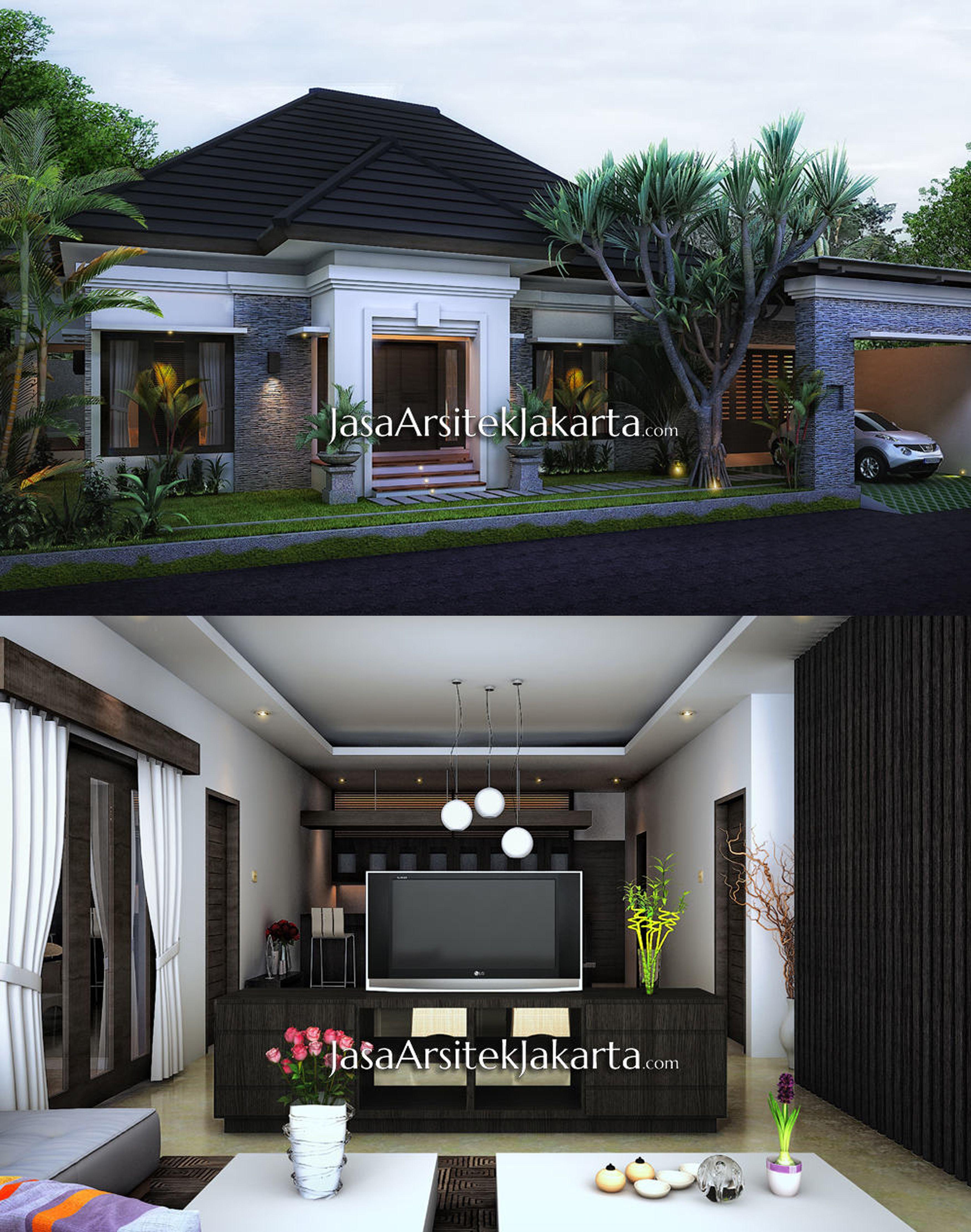 Desain Rumah Minimalis 1 Lantai Dengan Gaya Modern Memiliki Luasan 290m2 Berlokasi Di Riau Desain Rumah Bungalow Rumah Arsitektur Desain Rumah Kecil