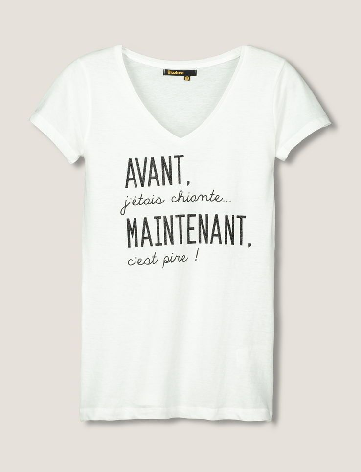 t shirt message avant j 39 tais chiante v tements pinterest messages v tements et citation. Black Bedroom Furniture Sets. Home Design Ideas