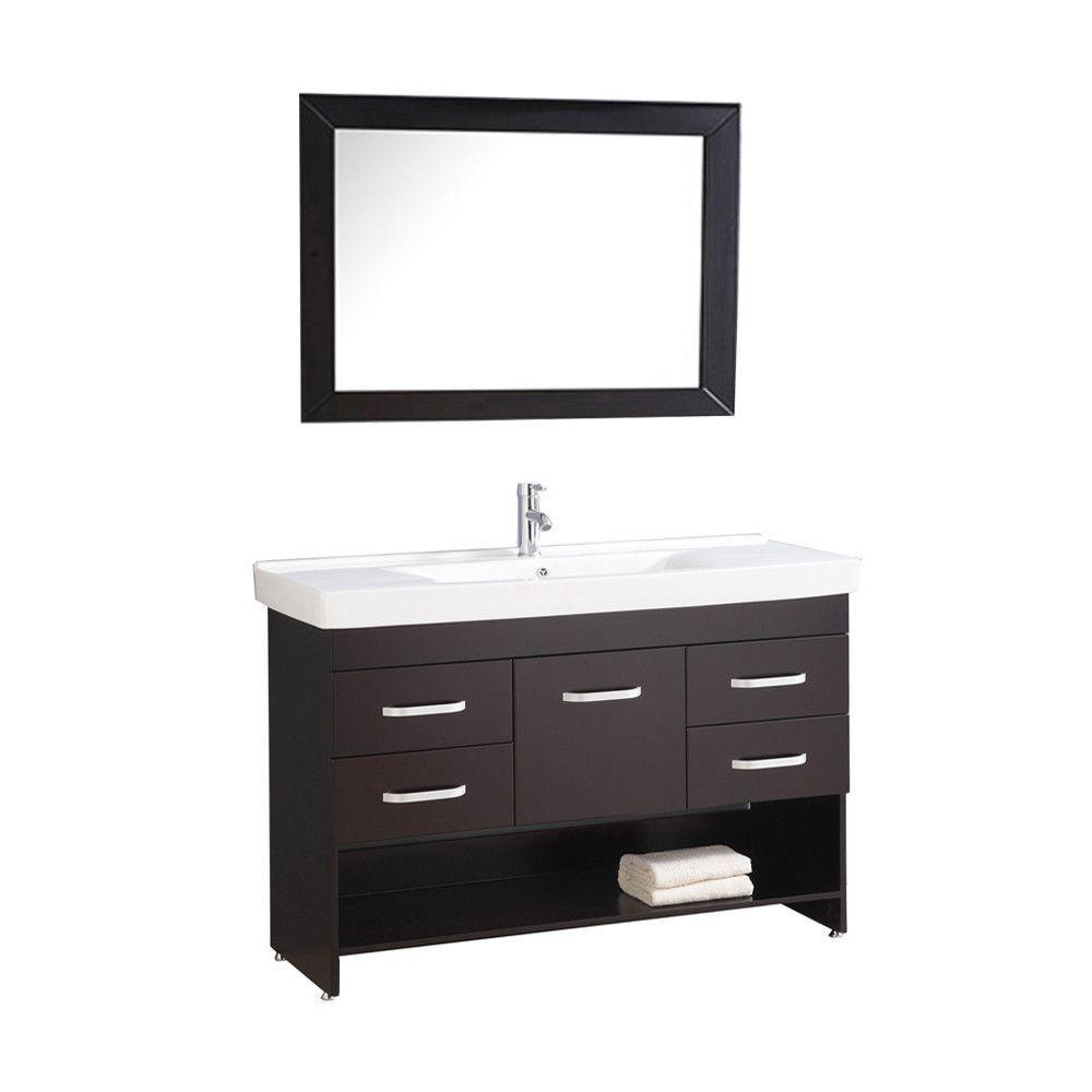 "Greece 48"" Single Sink Bathroom Vanity Set"