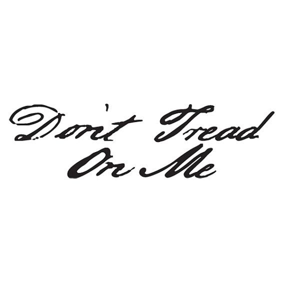 Dont tread on me vinyl sticker