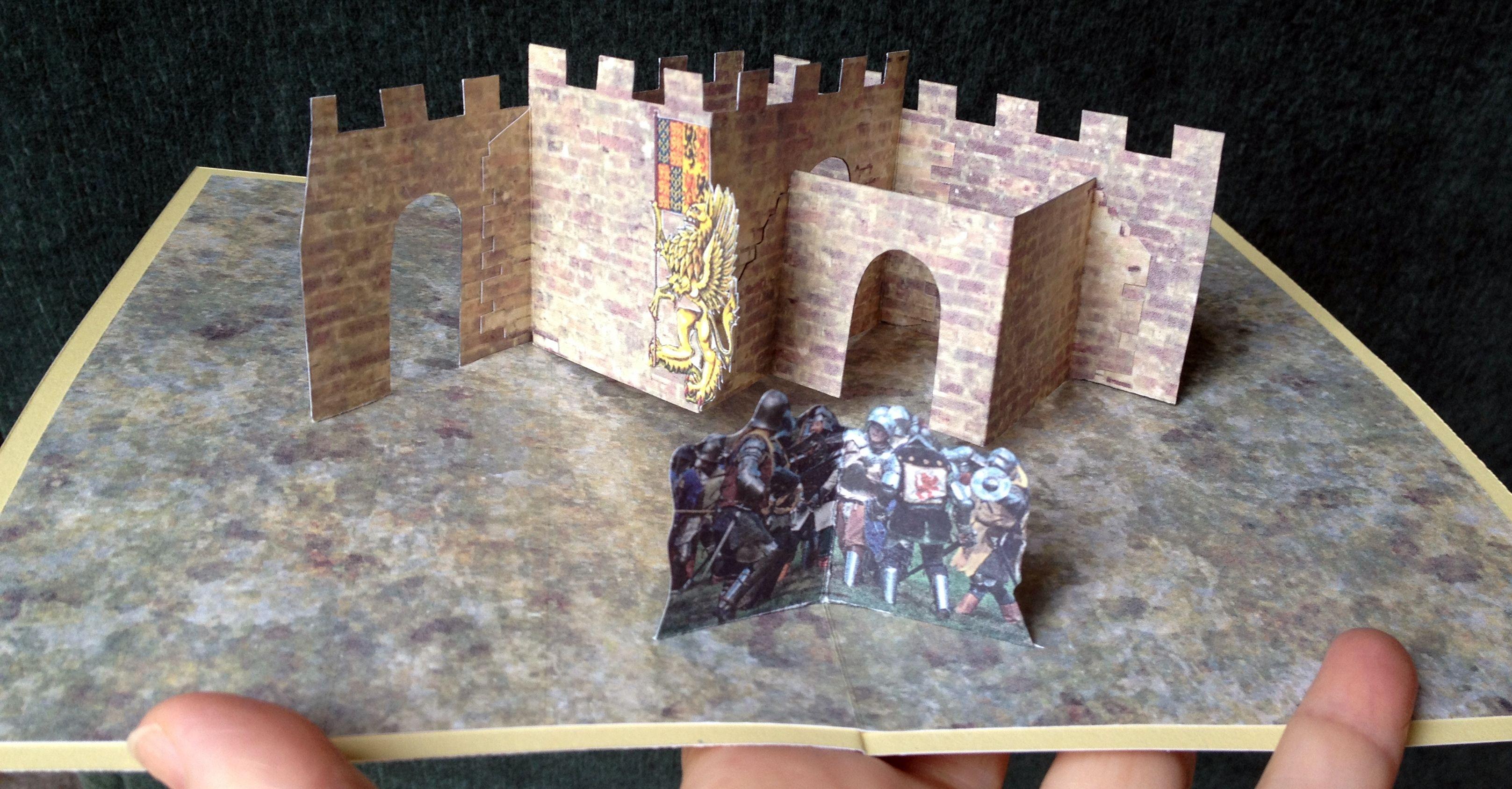 Castle walls pop-up card