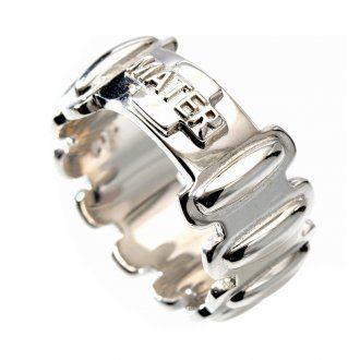 b4353283a57 Anillo rosario de plata 925 MATER