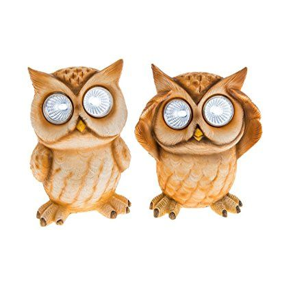 Uno in dotazione – Bright Eyes Owl – Small – Novità Solar Garden Light – LED bianco luminoso Eyes