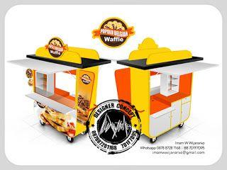 Jasa Desain Logo Kuliner |  Desain Gerobak | Jasa Desain Gerobak Waralaba: Desain Gerobak Waffle Popolo Belgian