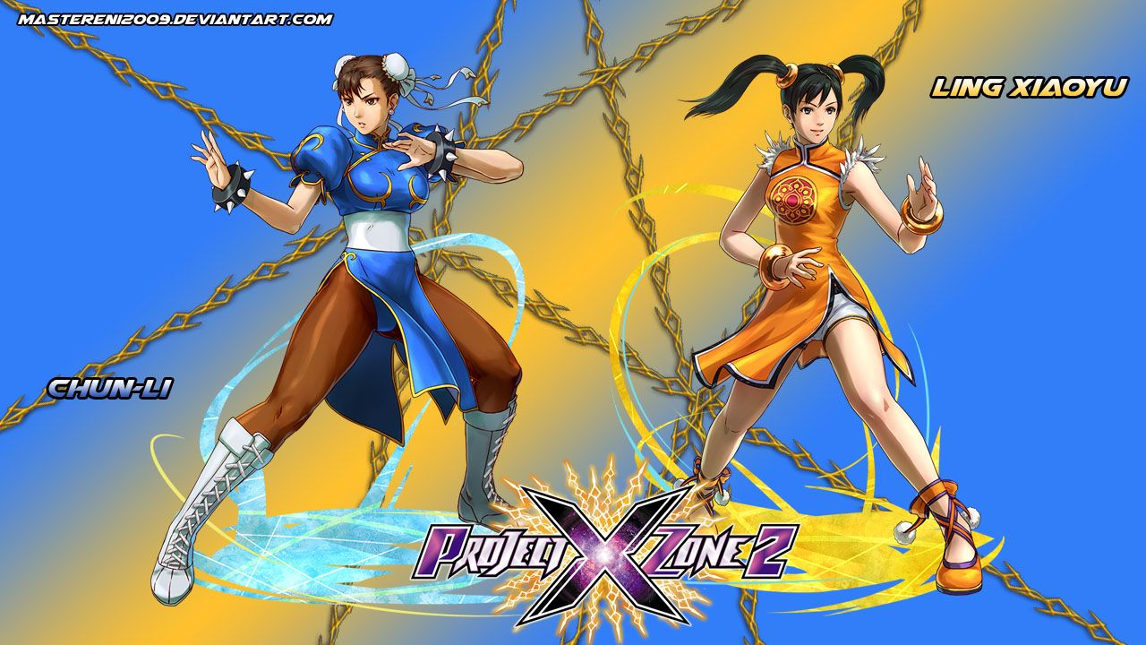 Project X Zone 2 Wallpaper Featuring Chun Li The Strongest Woman