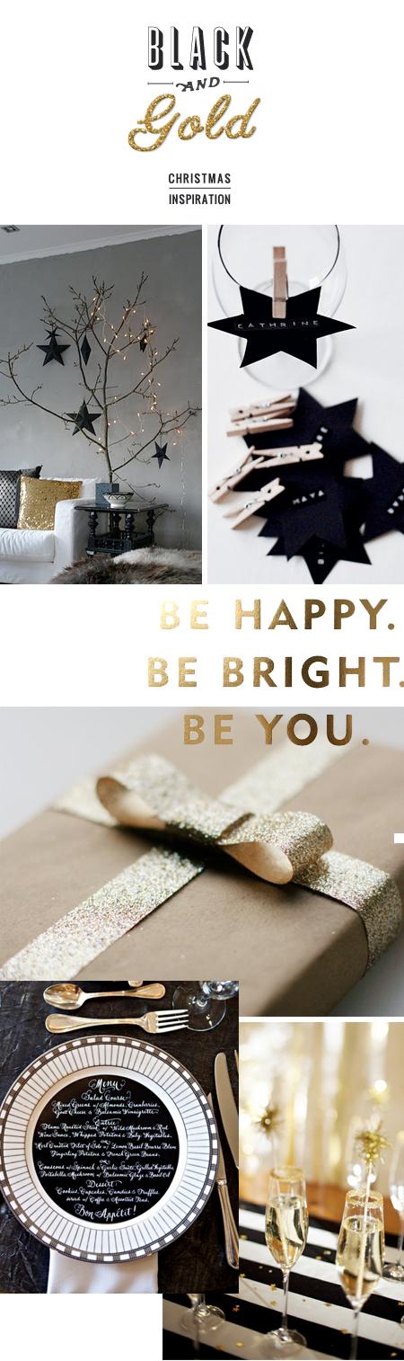 Christmas Black And Gold Christmas Inspiration Black Gold Christmas Gold Christmas