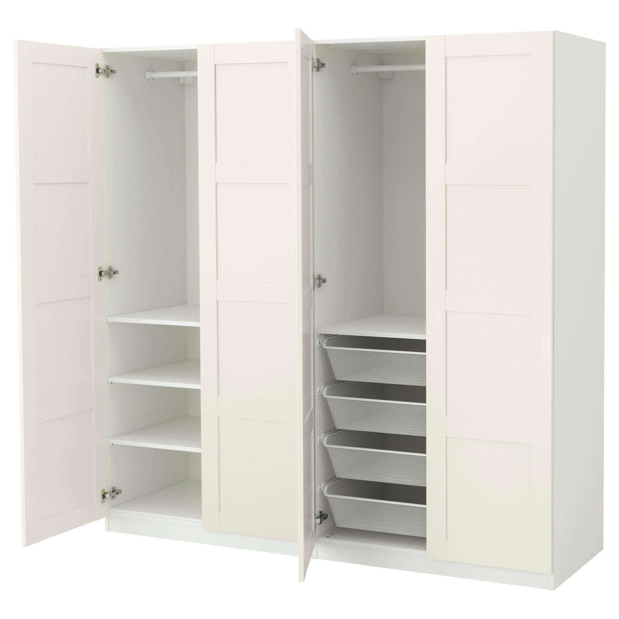 Wardrobe, white, Bergsbo white, 78 3/4x23 5/8x79 1/4