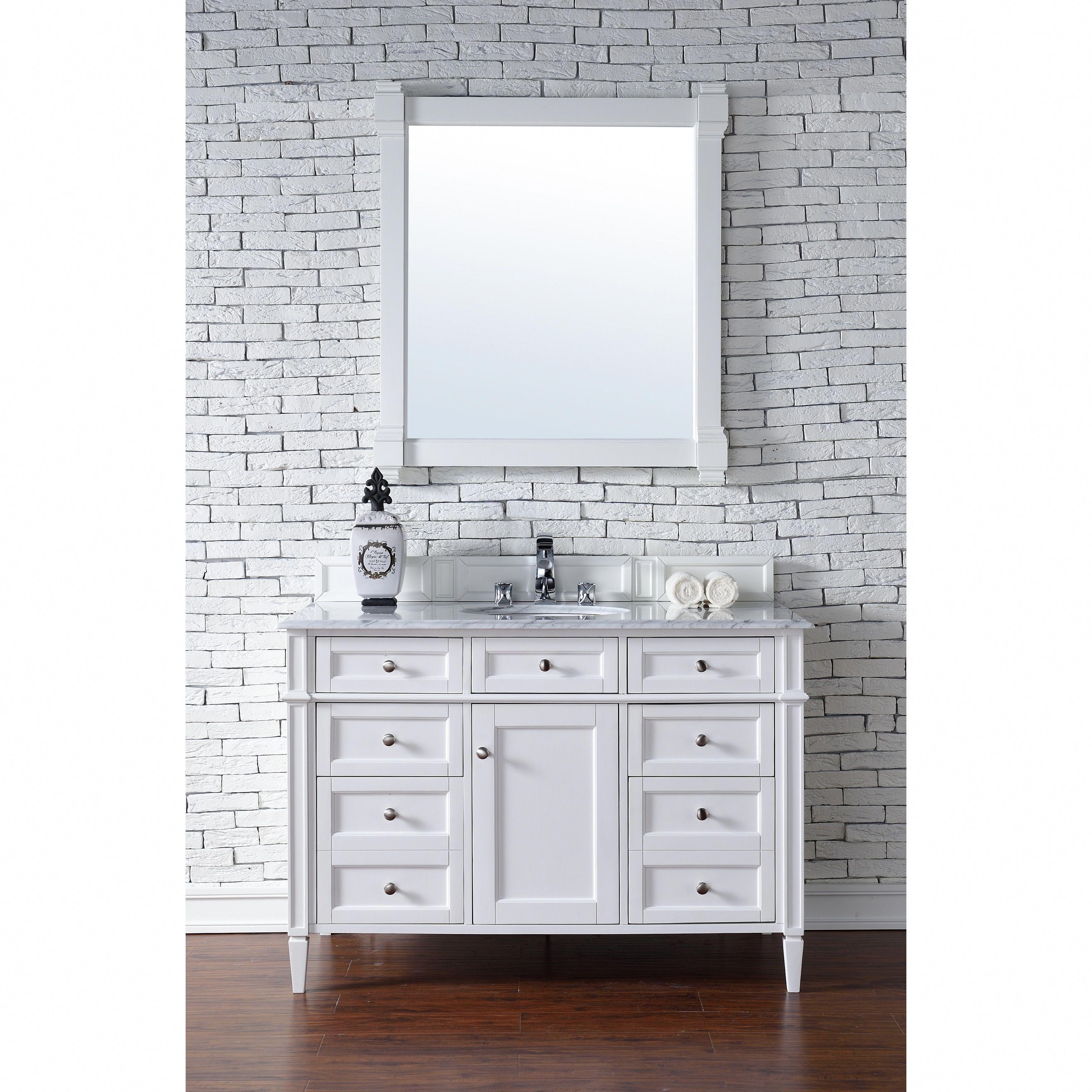 James Martin Furniture Cottage White Brittany 48 Inch Single