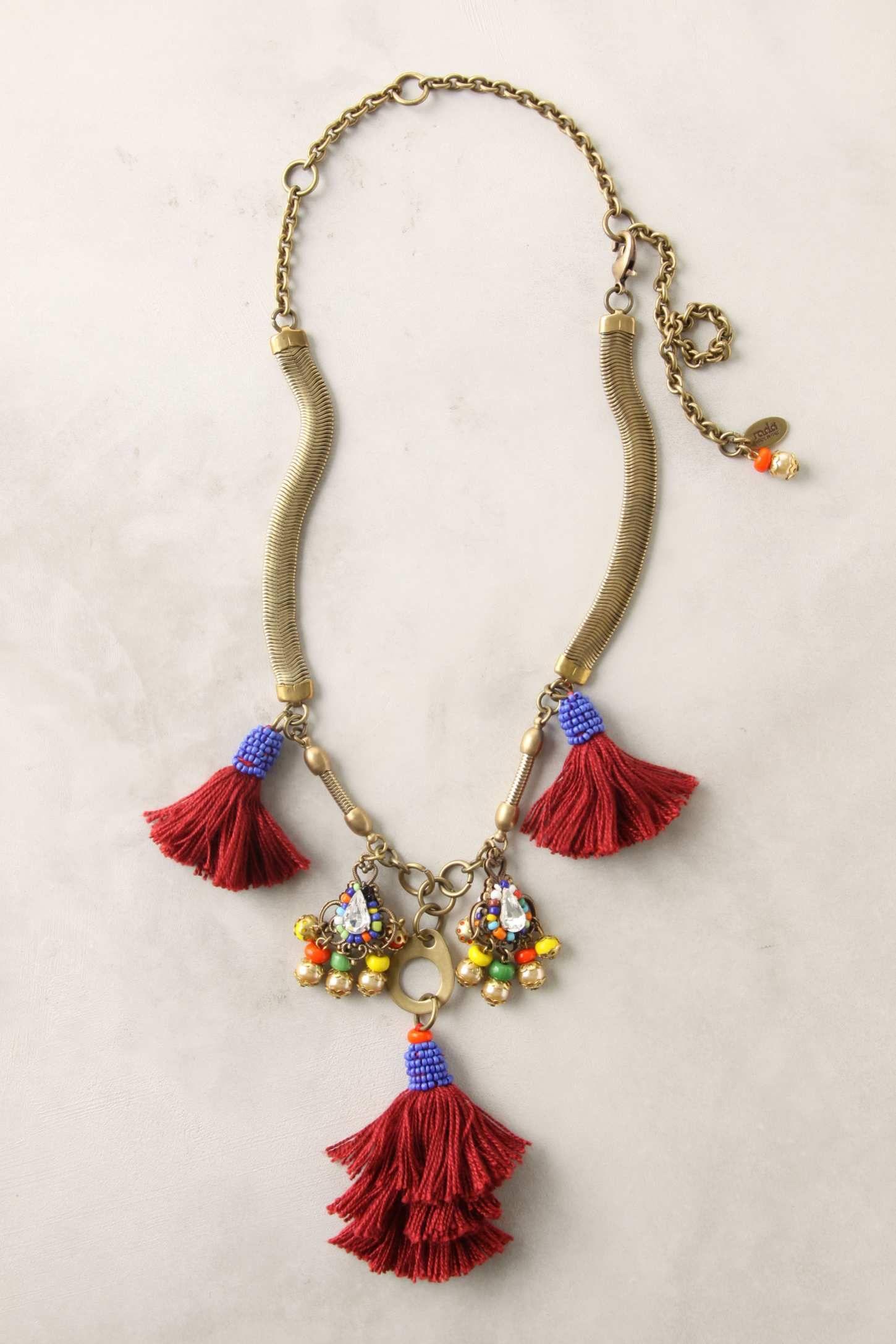 tassel exhibit necklace by anthropologie
