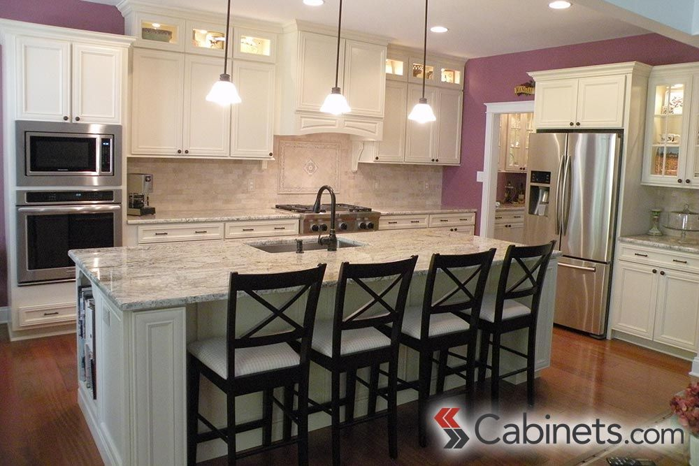 Varied Heights On Cabinets Provide Visual Interest In A Kitchen Are Deerfield Assembled Hawthorne