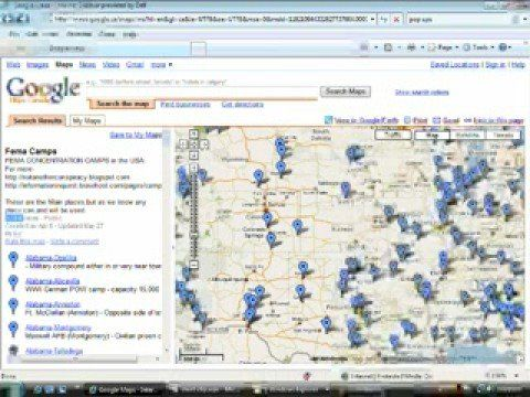 Fema Concentration Camps In Usa With Google Earth  Google Rex