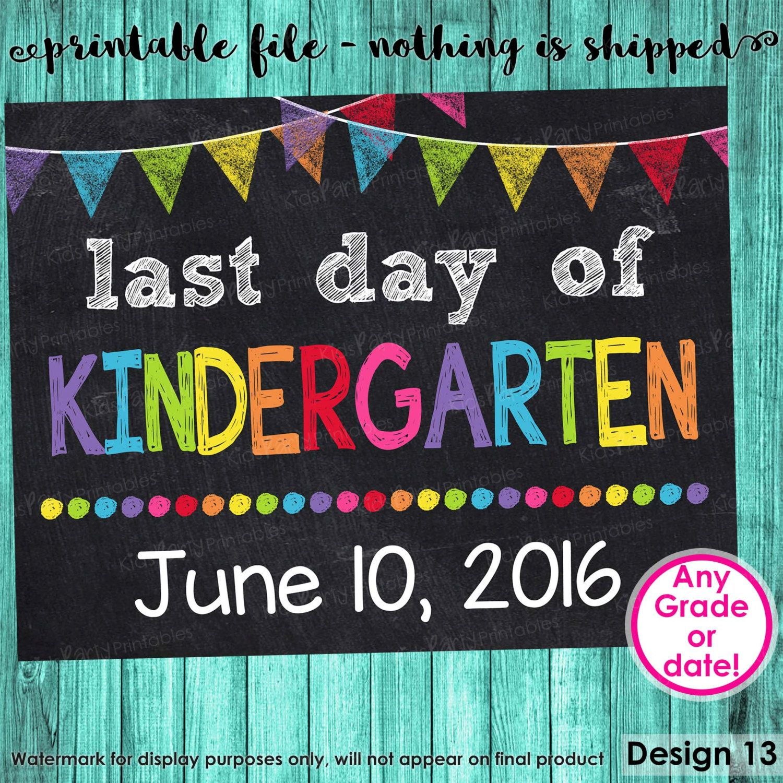 Kindergarten Printable Sign Kindergarten Printable Sign