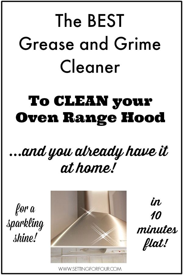 how to clean oven range filters