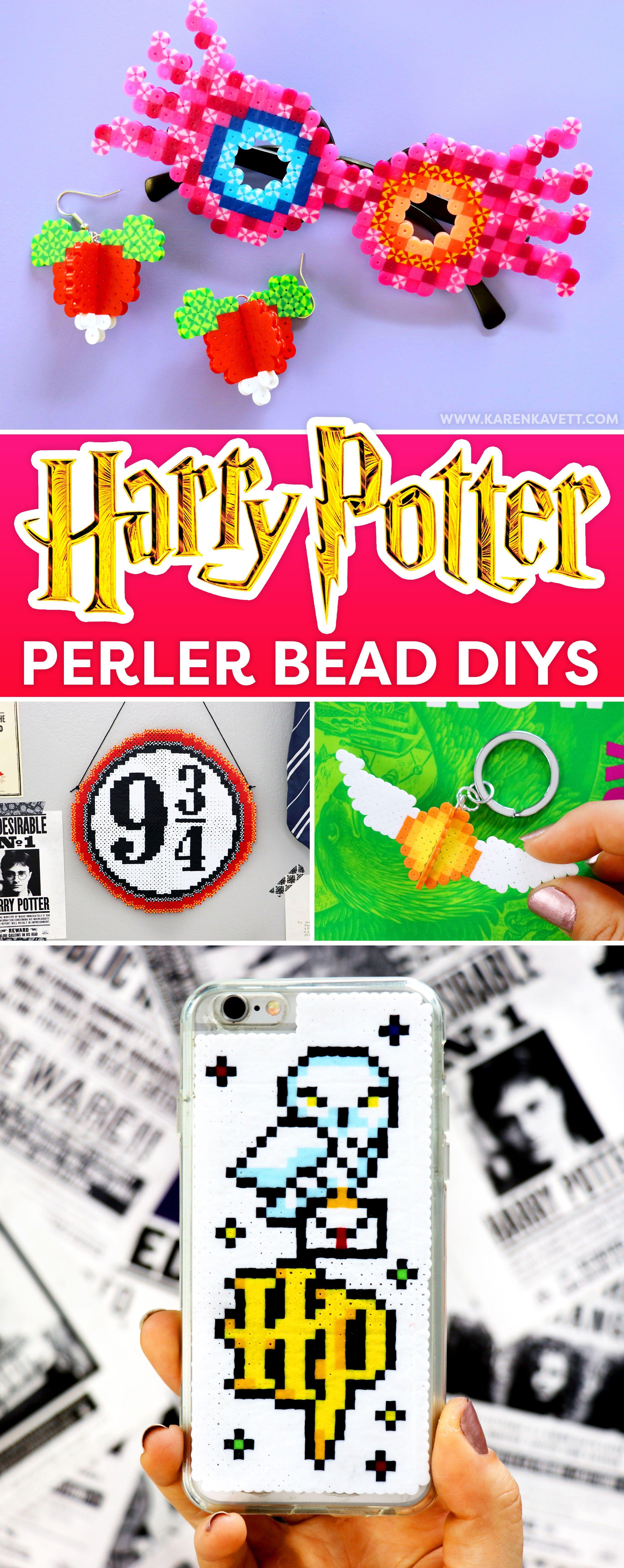 Diy Harry Potter Perler Bead Crafts