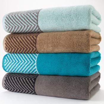 Apt 9 Highly Absorbent Chevron Bath Towels With Images Towel