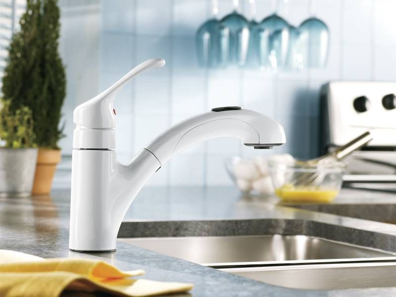 Moen Ca87316w Renzo Pull Out Kitchen Faucet Best Kitchen