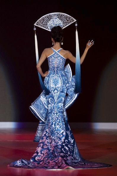 Delft Blue Dress Up Avant Garde Editorial Fashion