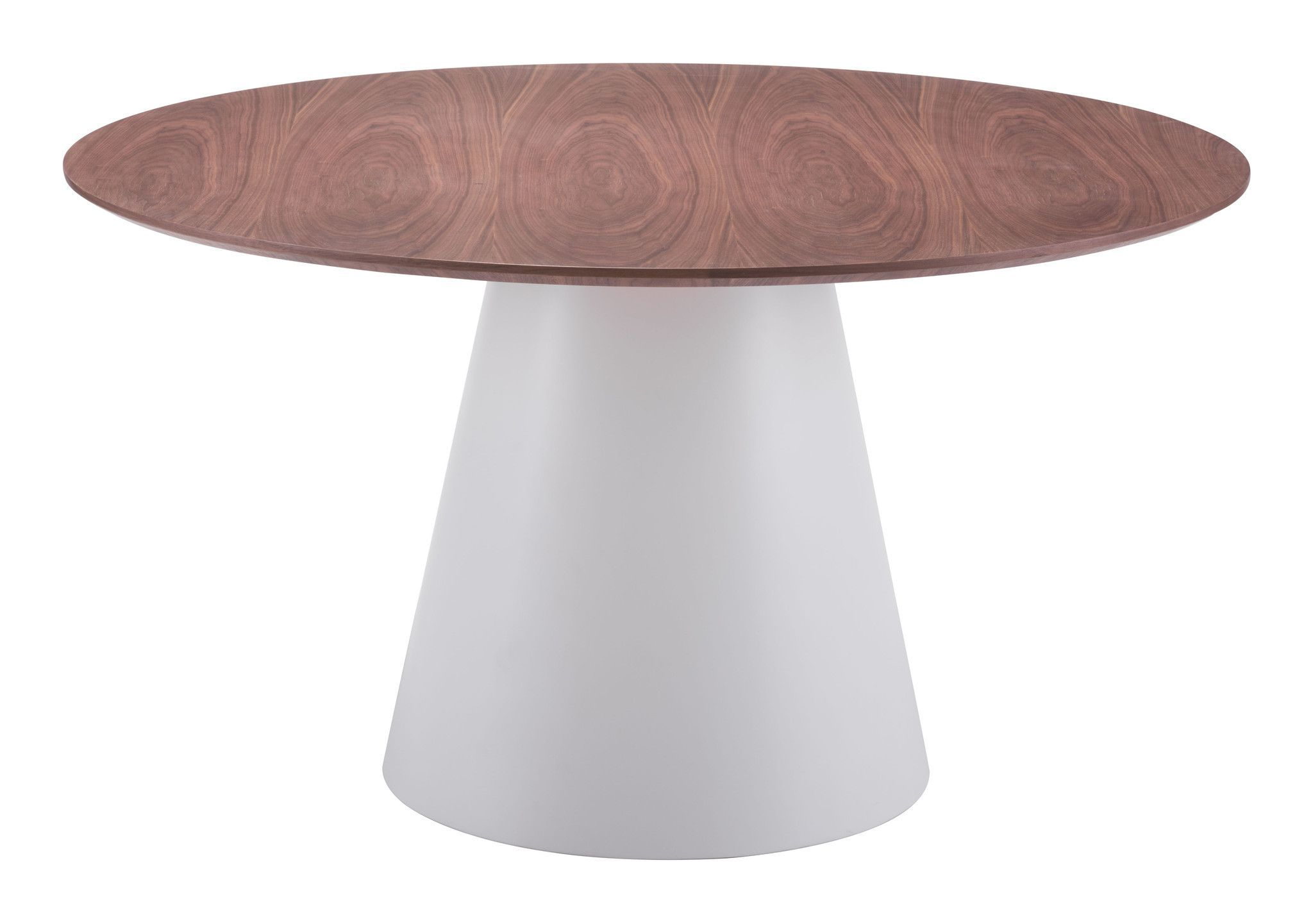 Quiescent Dining Table White Walnut Dining Table Round Dining Table Modern Round Dining Table [ 1441 x 2048 Pixel ]