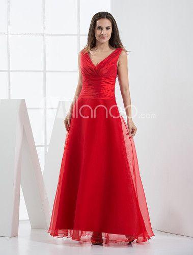 Brautjungfer kleid in rot