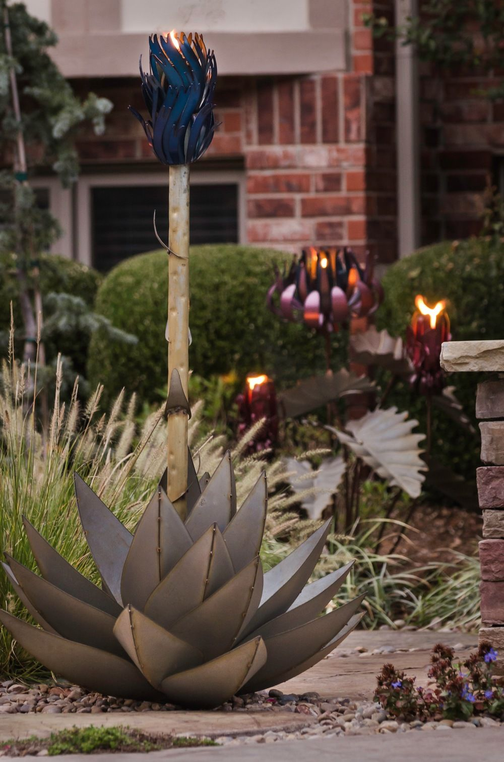 Pin by Nick Sinklier on Landscape | Pinterest | Garden torch and Agaves