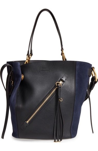 Chloé Medium Myer Calfskin Leather Suede Tote Available At Nordstrom