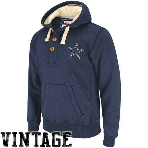 aec1e75bb Dallas Cowboys Navy Blue Play Maker Pullover Hoodie Sweatshirt ...
