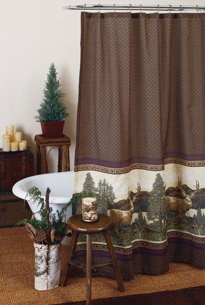 Deer Mountain Shower Curtain