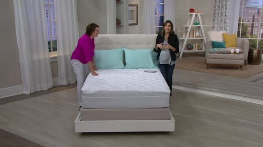 Serta Perfect Sleeper Mattress Pad With Nanotex Technology U2014 QVC.com