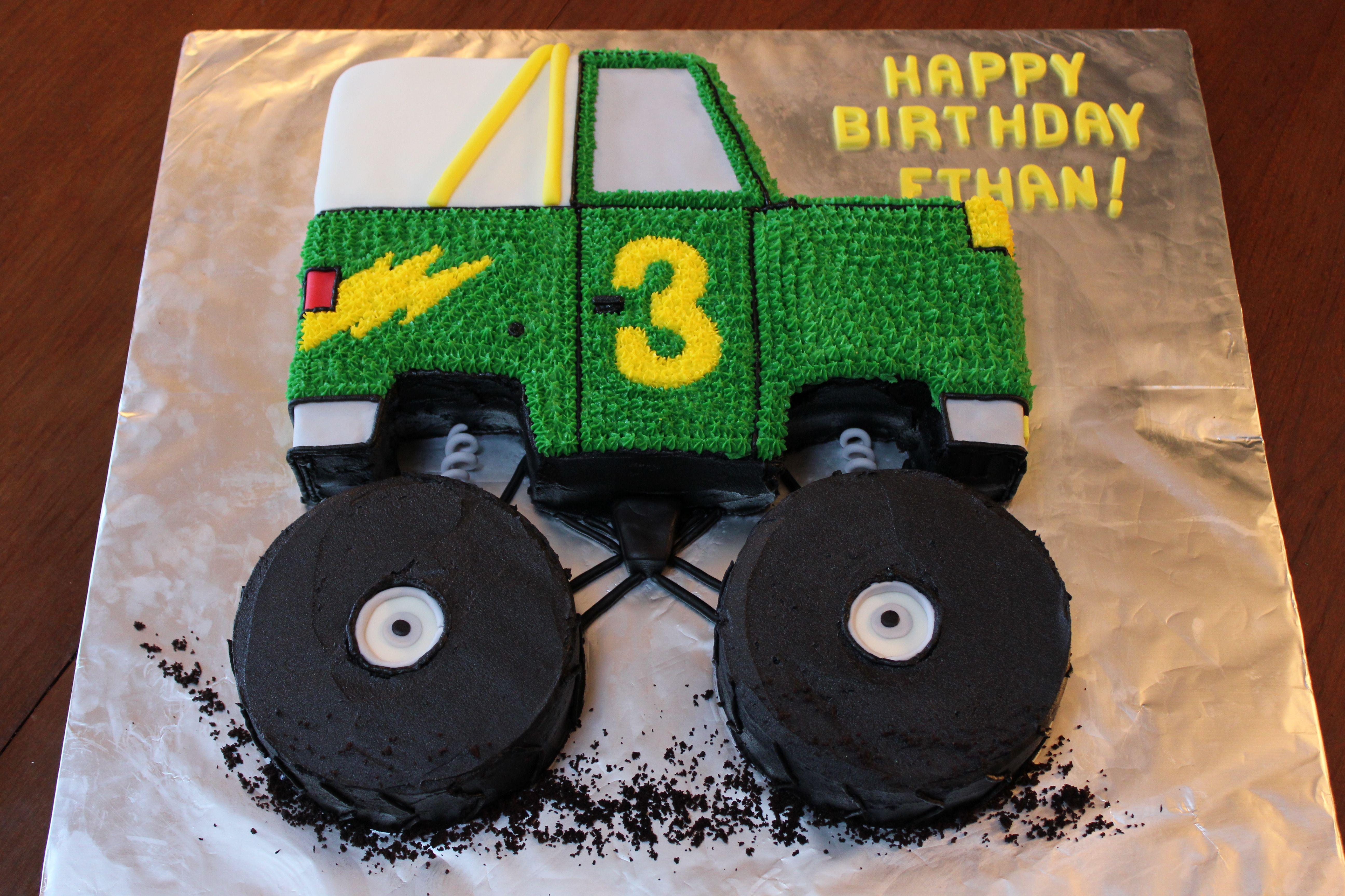Monster Truck Birthday Cake Ethan 1st Bday Pinterest Monster