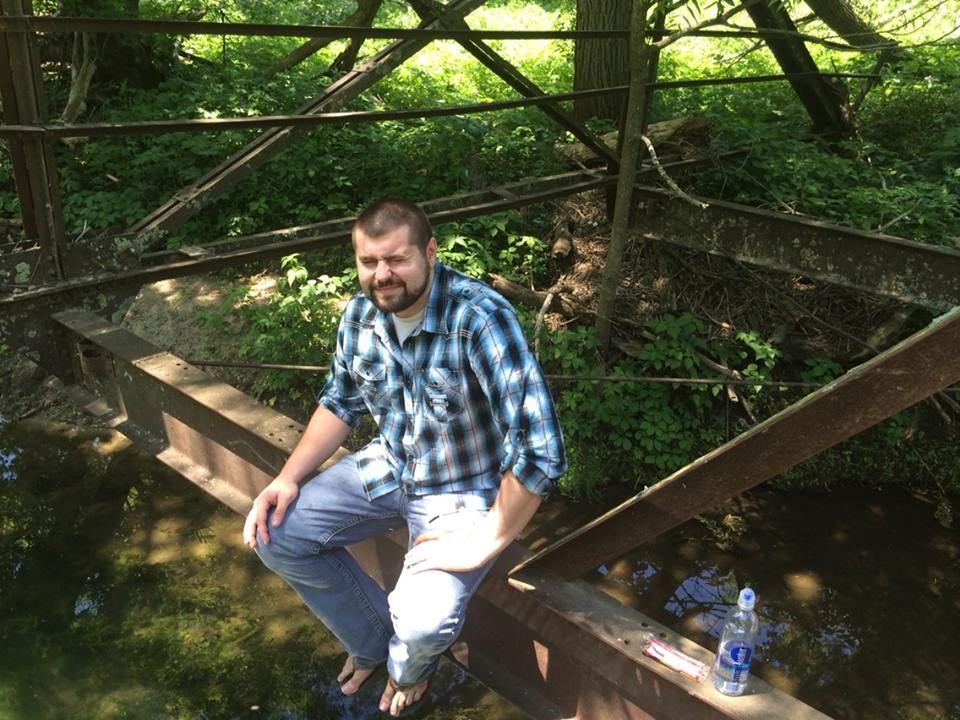 Kyle on bridge.