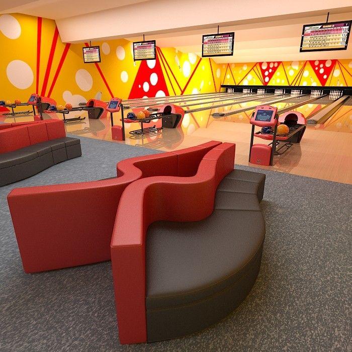 Bowling Club Equipment Scorer Hood Rack Return Machine Furniture Interior  Table Seat Coach Sofa Ball Switch