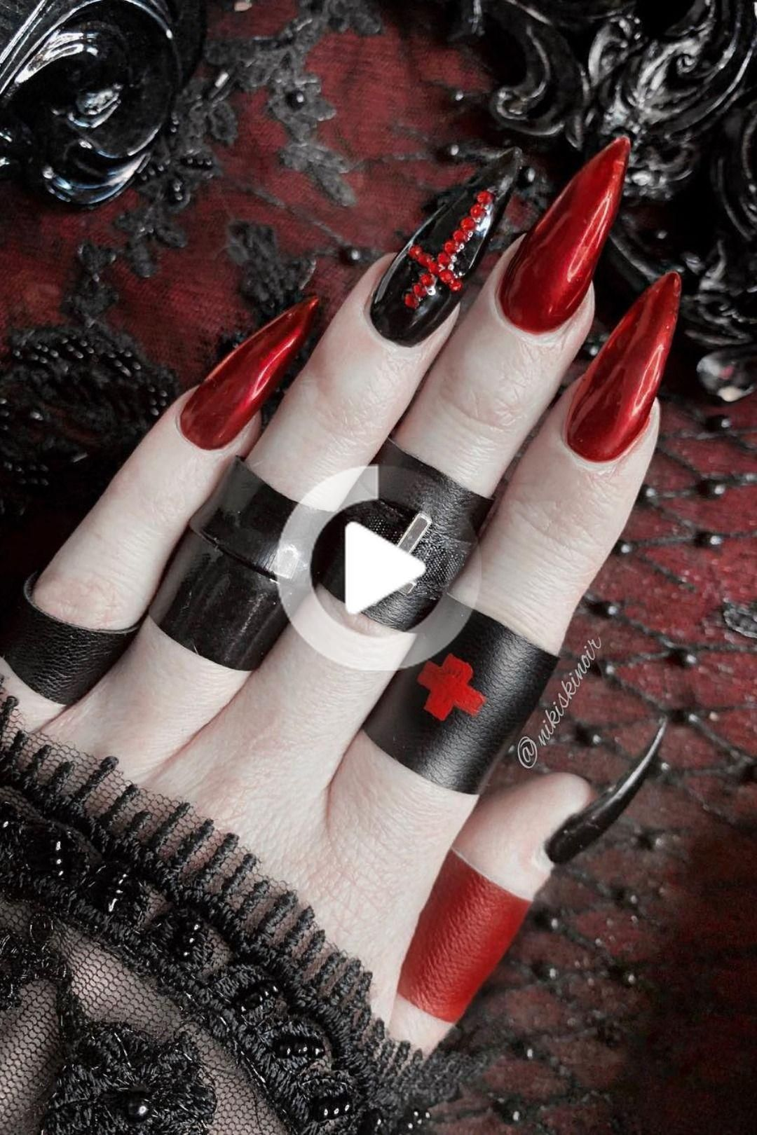 Best Halloween Nail Ideas in 2019 in 2020 | Edgy nails ...